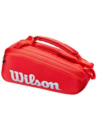 Torba tenisowa Wilson Super Tour 6 red